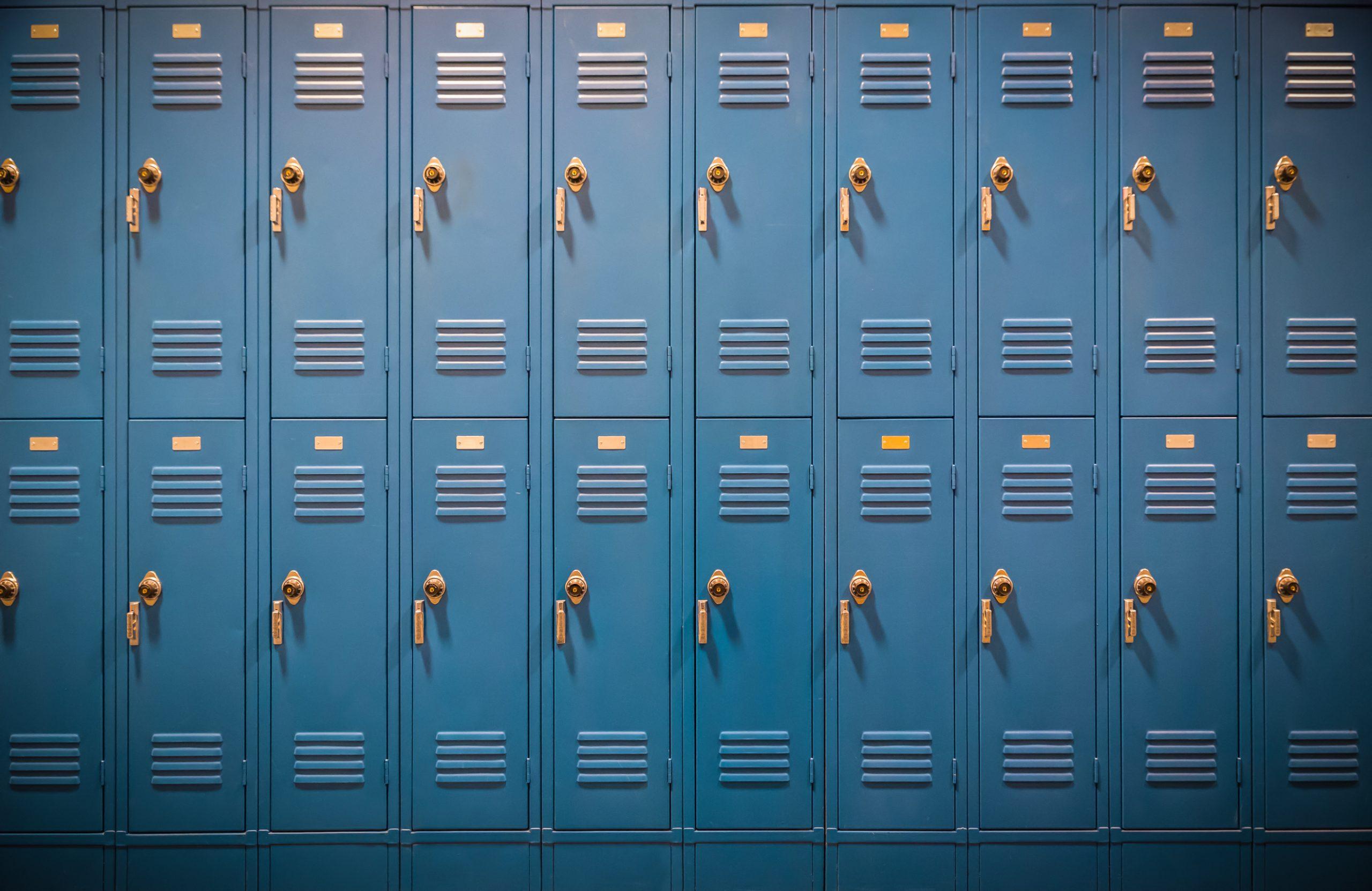 Row of High School Lockers